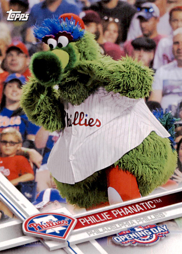 Photo of 2017 Topps Opening Day Mascots #M11 Phillie Phanatic
