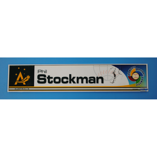 Photo of 2006 Inaugural World Baseball Classic: Phil Stockman Locker Tag - AUS