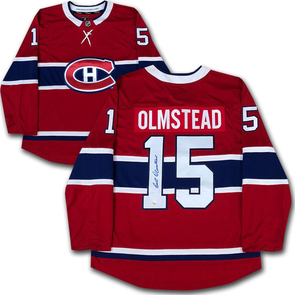 Bert Olmstead Autographed Montreal Canadiens Jersey