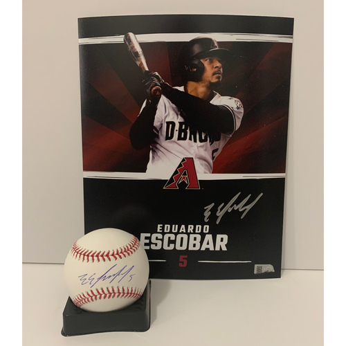 Photo of Eduardo Escobar Autographed 8x10 and Ball