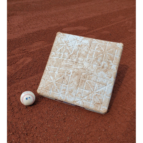 Photo of 2020 Phillies Game-Used Baseball & Base - Didi Gregorius Home Run (Back-to-Back-to-Back)