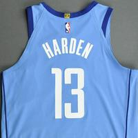 James Harden - Houston Rockets -  Game-Worn City Edition Jersey - Scored Game-High 33 Points - 2020-21 NBA Season