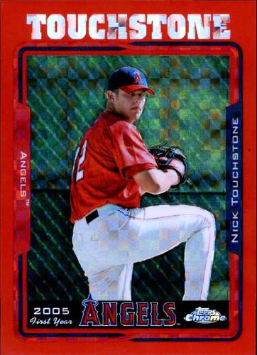 Photo of 2005 Topps Chrome Update Red X-Fractors #168 Nick Touchstone FY