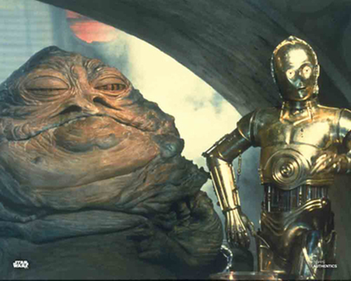 Jabba the Hutt and C-3PO