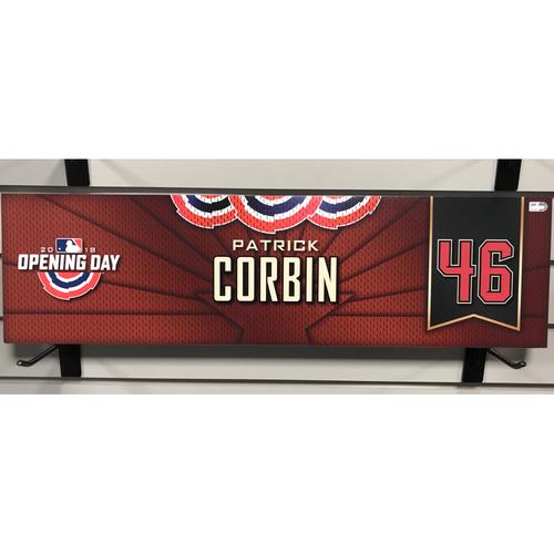 Photo of 2018 Patrick Corbin Opening Day Nameplate