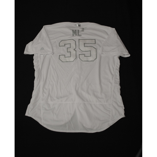 "Photo of Lance ""ML²"" Lynn Texas Rangers Game-Used 2019 Players' Weekend Jersey"