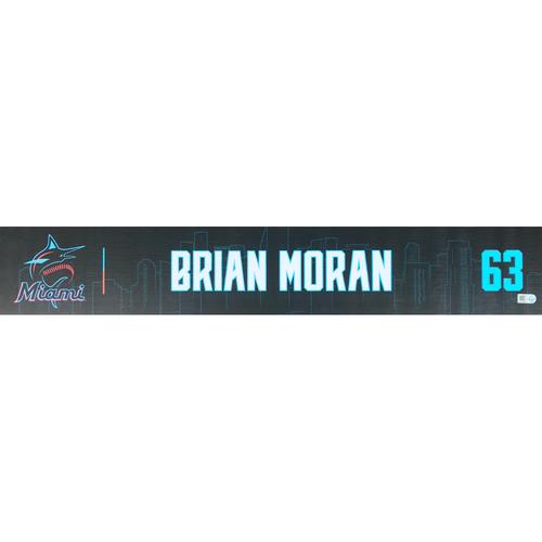 Photo of Game-Used Locker Tag: Brian Moran