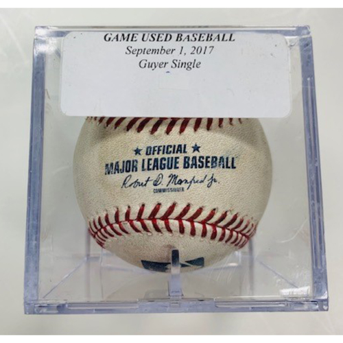 Photo of Game-Used Baseball: Brandon Guyer Single