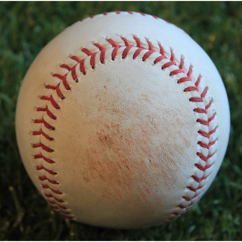 Photo of Game-Used Baseball: Nick Markakis 2,353rd Career Hit (9/25/19 - ATL @ KC)