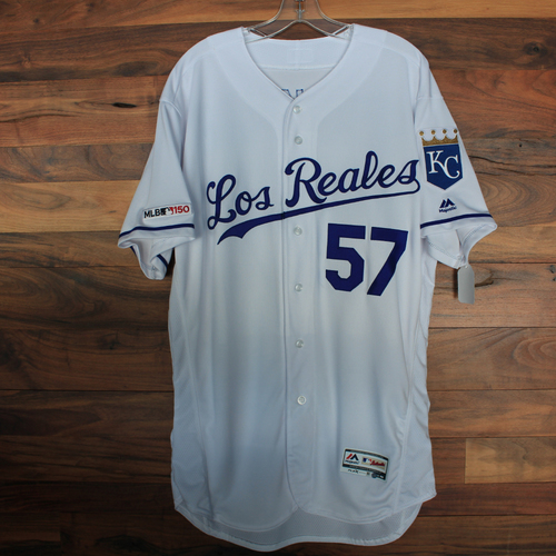 Game-Used Jersey: Glenn Sparkman (Size 46 - KC vs MIN 6/15/19)