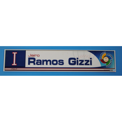 Photo of 2006 Inaugural World Baseball Classic: Jairo Ramos Gizzi Locker Tag - ITA