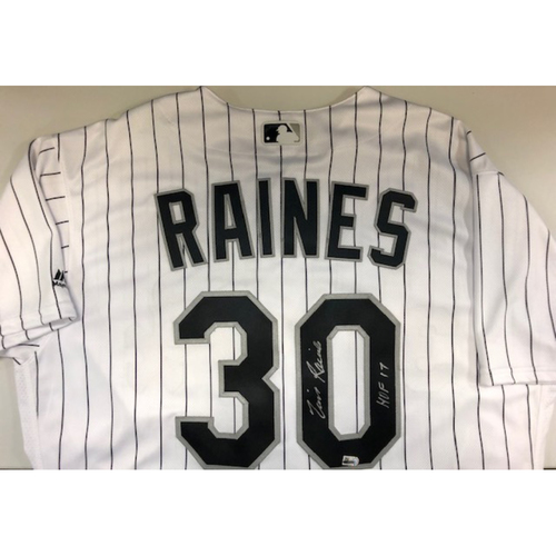 Photo of Tim Raines Autographed Jersey