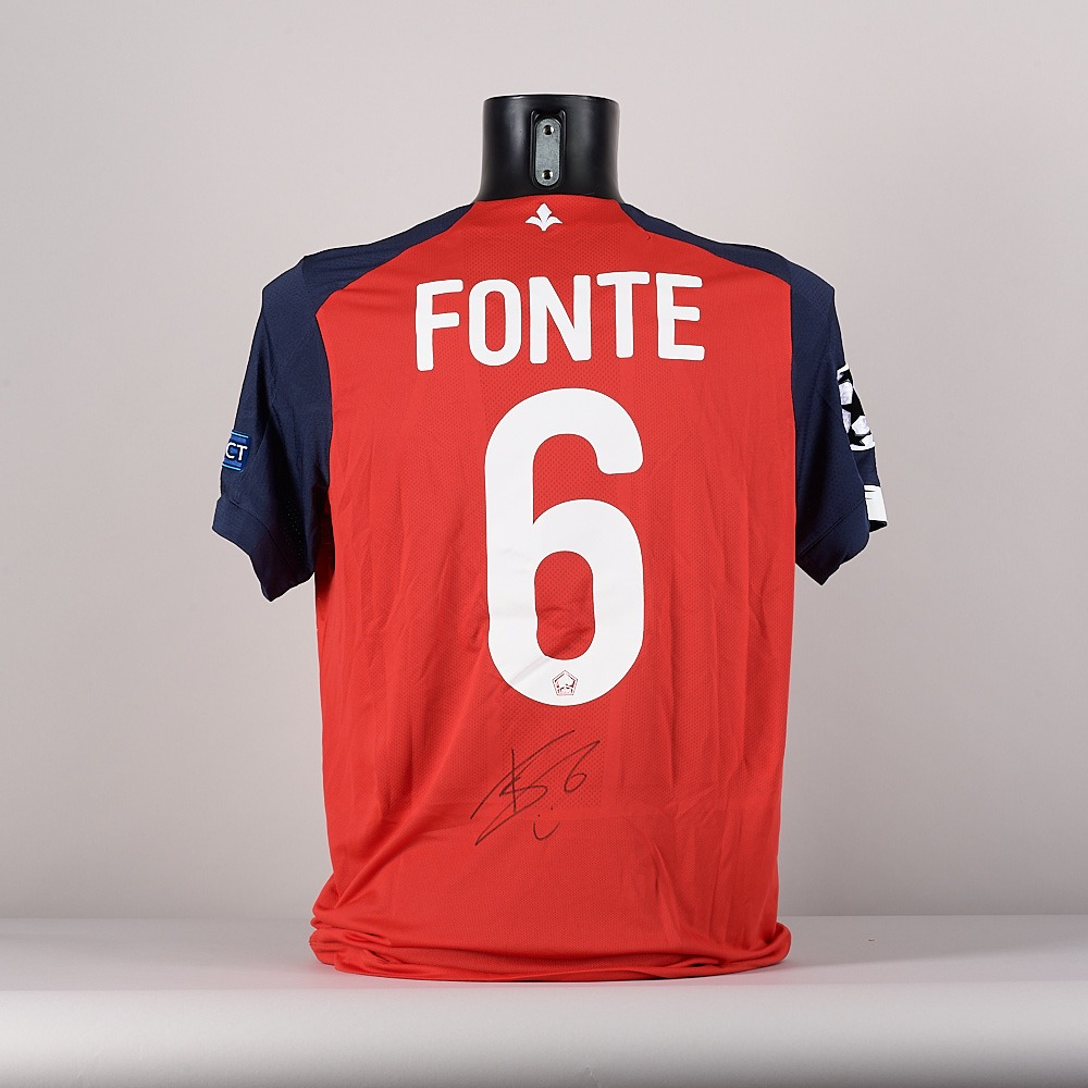 A LOSC Lille jersey, signed by Jose Fonte.