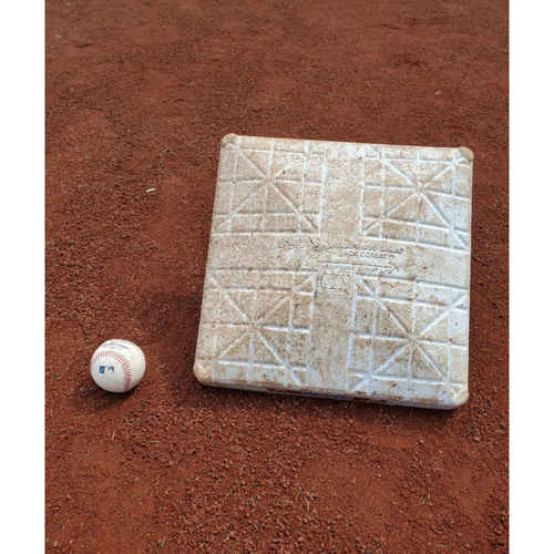 Photo of 2020 Phillies Game-Used Baseball & Base - Bryce Harper Home Run (Back-to-Back-to-Back)