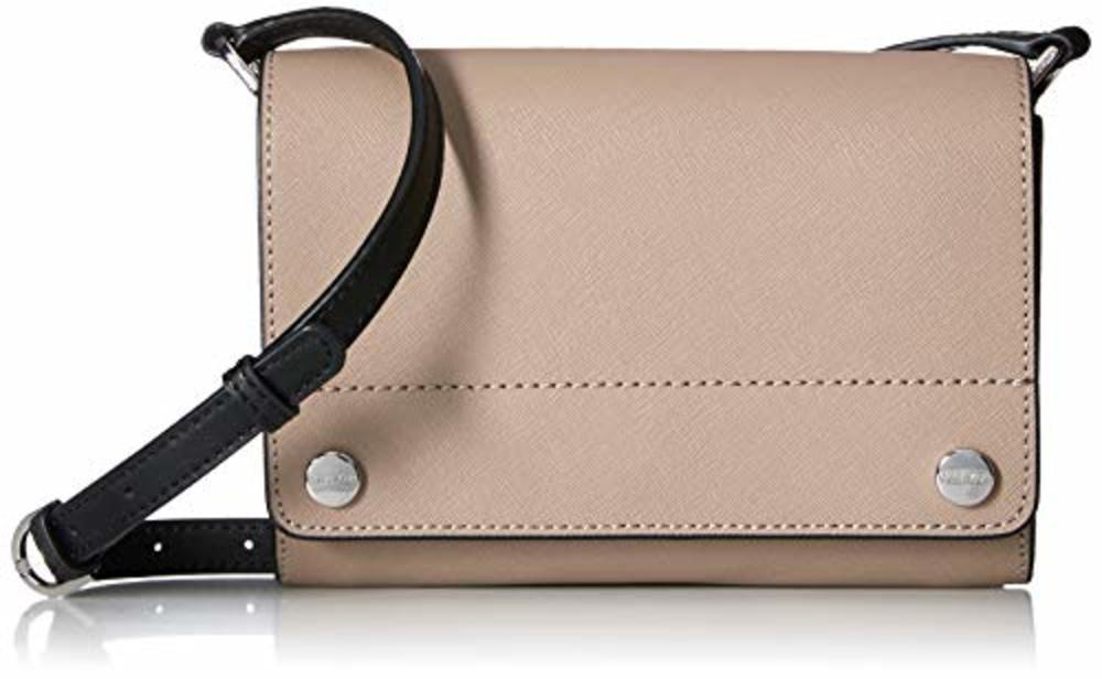 Photo of Calvin Klein Flap Saffiano Leather Flap Over Small Crossbody