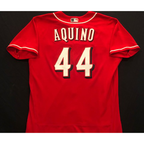 Photo of Aristides Aquino -- 2020 Spring Training Jersey -- Team-Issued -- Size 46
