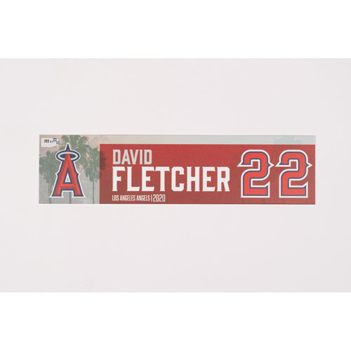 Photo of David Fletcher 2020 Team Issued Locker Tag