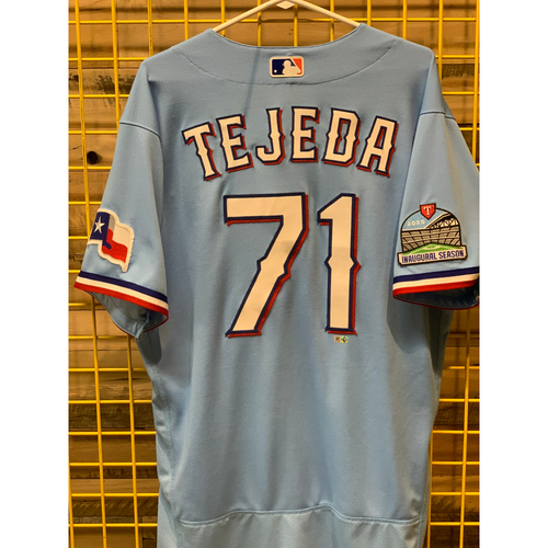 Photo of Anderson Tejeda Team-Issued Baby Blue Jersey
