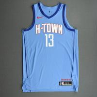 James Harden - Houston Rockets -  Game-Worn City Edition Jersey - Scored Game-High 33 Points - 2020-21 NBA Season
