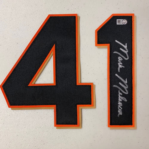 Photo of #41 Mark Melancon Autographed Number (*No Jersey Included* JERSEY NUMBERS ONLY)