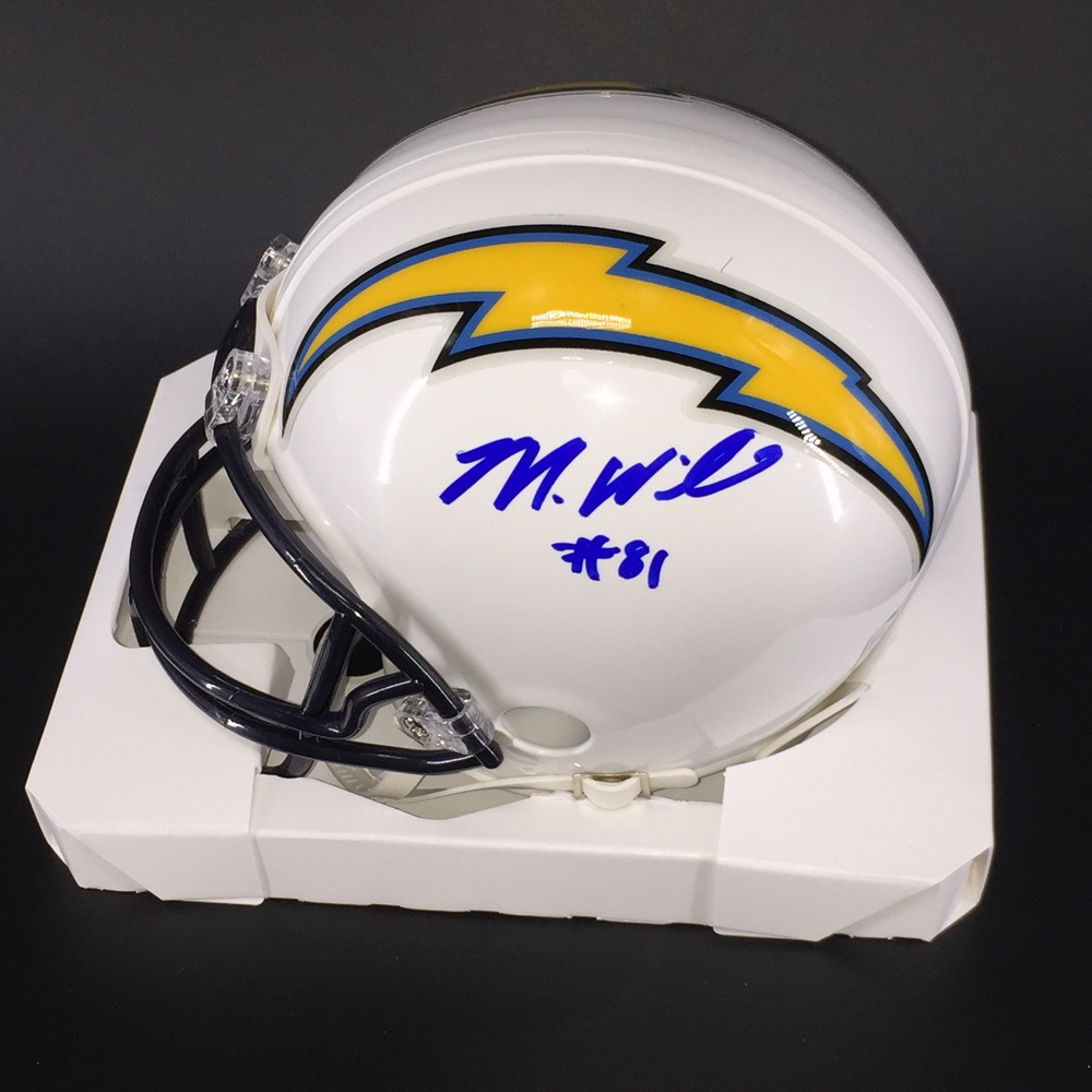 Chargers - Mike Williams Signed Mini Helmet