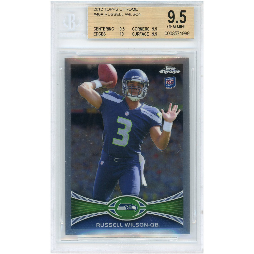 Russell Wilson Seattle Seahawks 2012 Topps Chrome Rookie Card #40A BGS 9.5