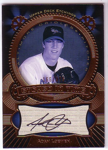 Photo of 2004 Upper Deck Etchings Etched in Time Autograph Black #AL Adam Loewen/375