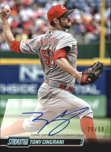 Photo of 2014 Stadium Club Autographs Rainbow #SCATC Tony Cingrani