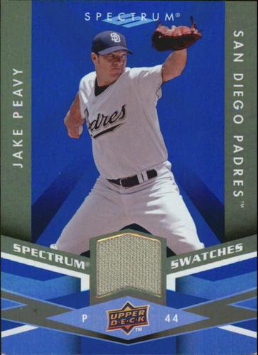Photo of 2009 Upper Deck Spectrum Spectrum Swatches Blue #SSJP Jake Peavy