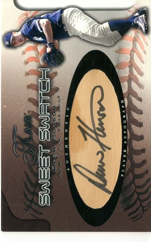 Photo of 2002 Flair Sweet Swatch Bat Autograph #6 Drew Henson/785