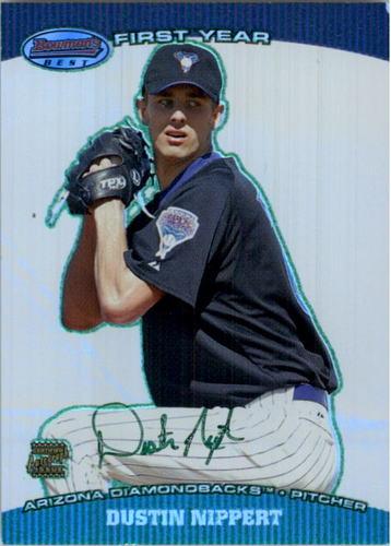 Photo of 2004 Bowman's Best Green #DDN Dustin Nippert FY AU