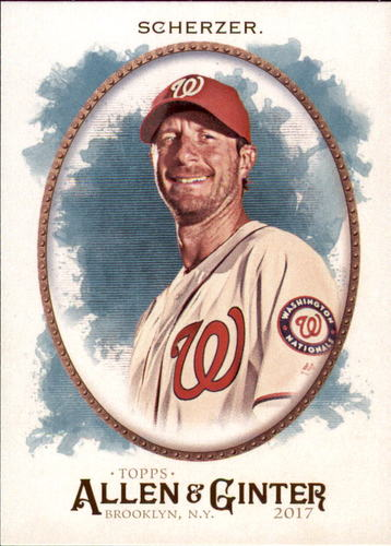 Photo of 2017 Topps Allen and Ginter #75 Max Scherzer -- Nationals post-season