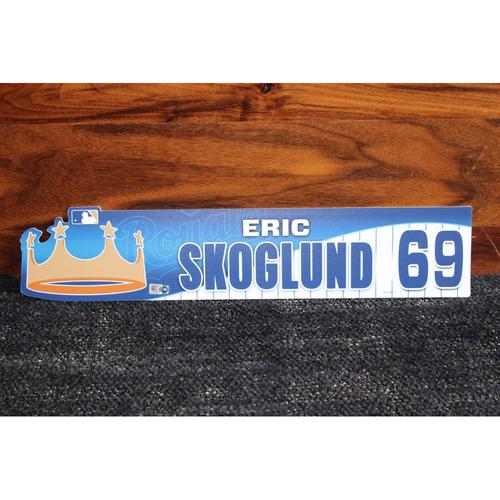 Game-Used Locker Name Plate: Eric Skoglund