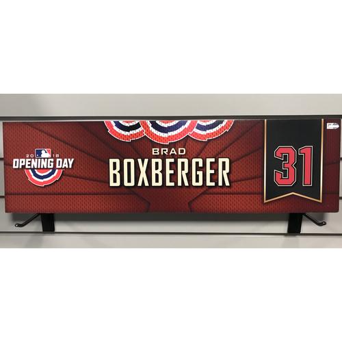 Photo of 2018 Brad Boxberger Opening Day Nameplate