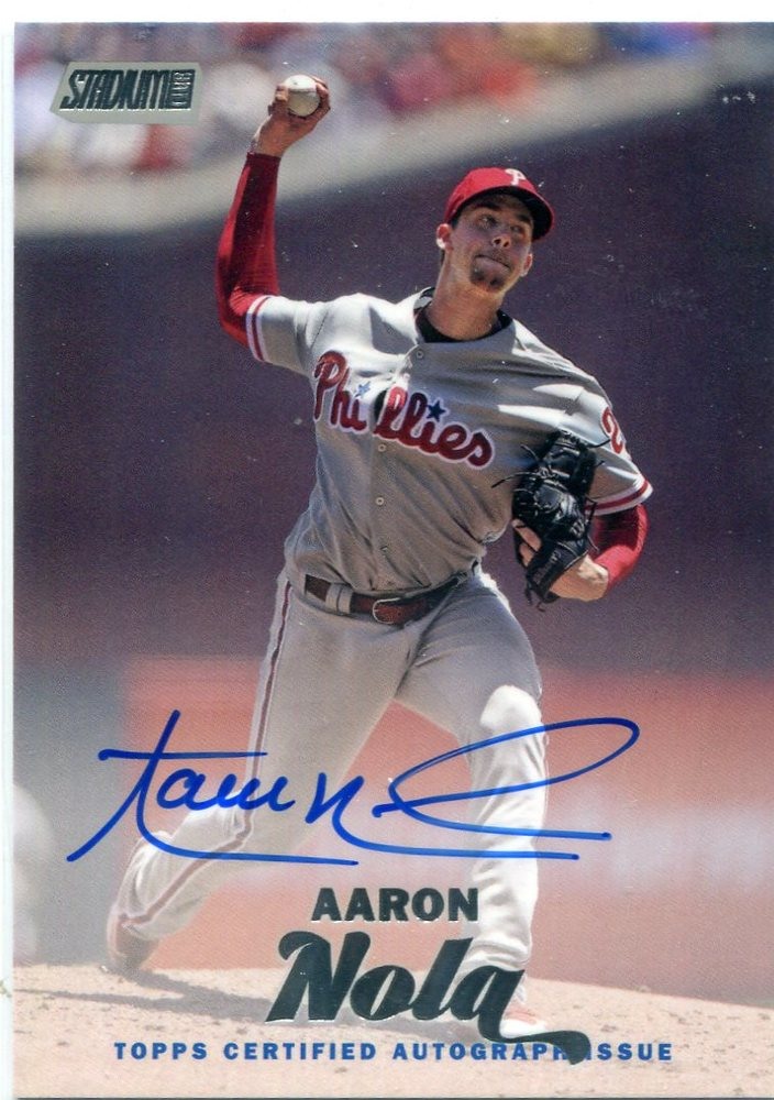 2017 Stadium Club Autographs  Aaron Nola