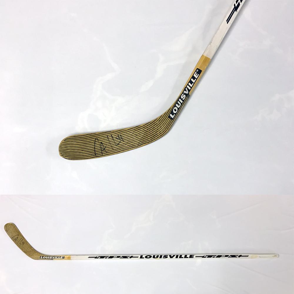 JASON ALLISON Signed Louisville Stick - Boston Bruins