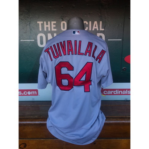 Cardinals Authentics: Game Worn Sam Tuivailala Road Grey Jersey