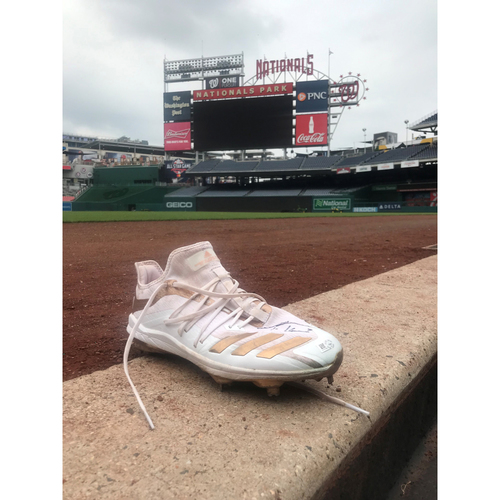 Photo of Autographed Trea Turner Gold Right Cleat