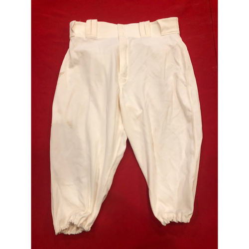 Eugenio Suarez -- Game-Used Pants -- 1902 (Starting 3B: Went 1-for-4, HR, 3 RBI, R) & 1912 Throwback Games (Starting 3B) -- Size: 34-44-18