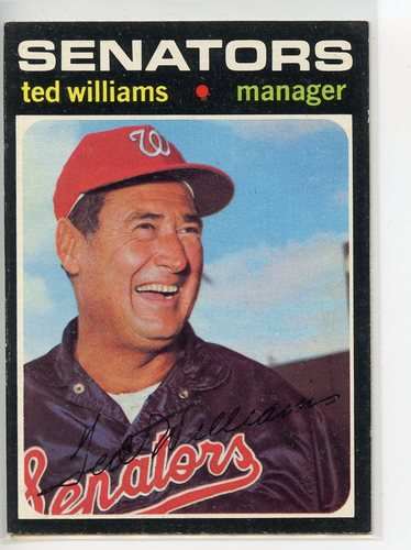 Photo of 1971 Topps #380 Ted Williams Manager