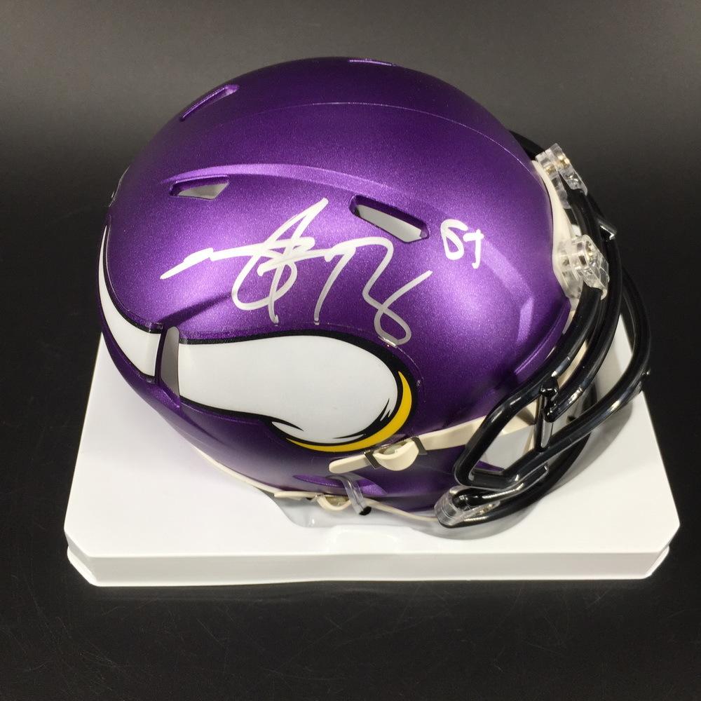 NFL - Vikings Anthony Barr Signed Mini Helmet