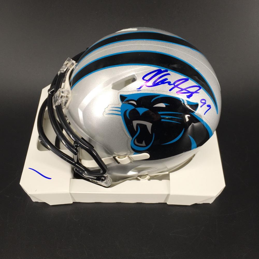 Panthers - Kawann Short Signed Mini Helmet