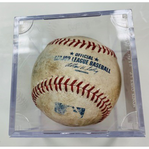 Game-Used Baseball: Nicholas Castellanos Foul Ball