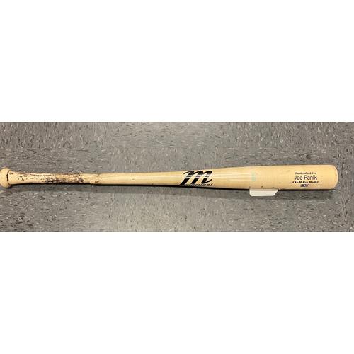 Photo of 2019 Holiday Sale - 2019 Game Used Broken Bat used by #12 Joe Panik on 6/22 @ ARI - T-9: Archie Bradley to Joe Panik - Ground Out to 2nd Baseman (Ildemaro Vargas)