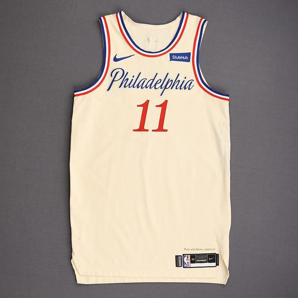 Image of James Ennis III - Philadelphia 76ers - Christmas Day' 19 - Game-Worn City Edition Jersey