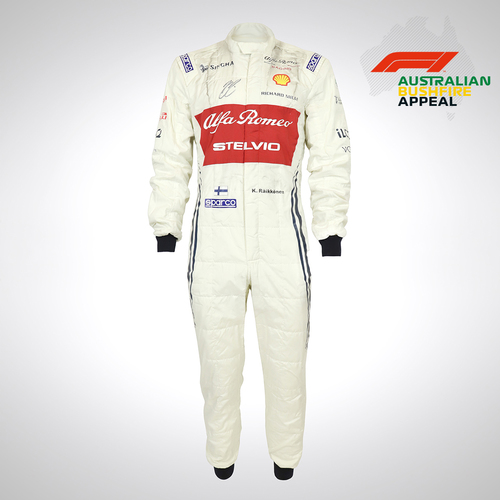 Photo of Kimi Raikkonen 2019 Race-worn Race Suit