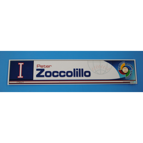 Photo of 2006 Inaugural World Baseball Classic: Peter Zoccolillo Locker Tag - ITA