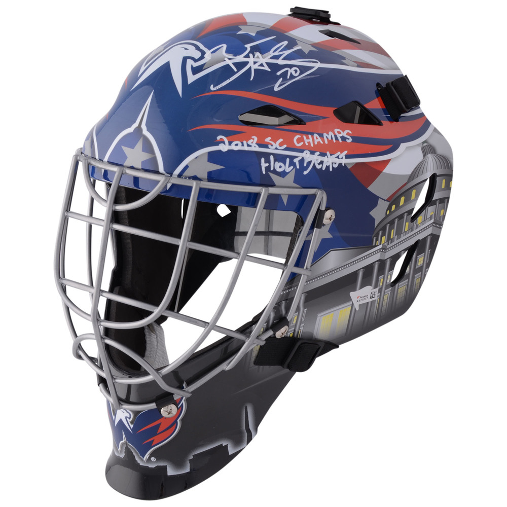 Braden Holtby Washington Capitals Autographed Replica Goalie Mask with Multiple Inscriptions