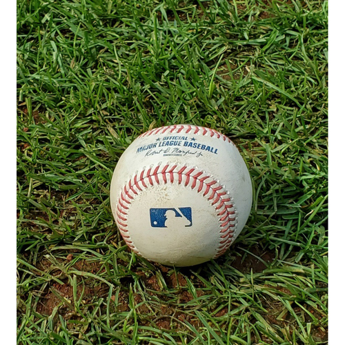 Photo of 2020 Phillies Game-Used Baseball - Pete Alonso Home Run