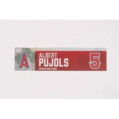Photo of Albert Pujols 2020 Team Issued Locker Tag